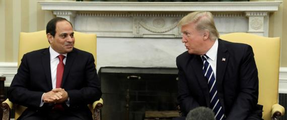 ترامب والسيسي يتعهدان بمكافحة الارهاب