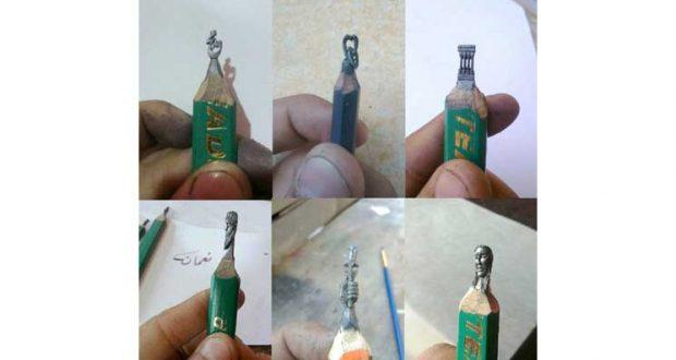 النحت على رؤوس أقلام الرصاص.. مهارة لبنانية نادرة