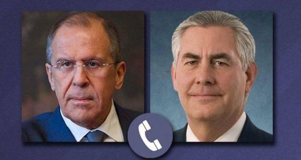 #تيلرسون يؤكد لـ #لافروف دعمه لآلية التحقيق في ''هجوم كيميائي'' بـ #سوريا