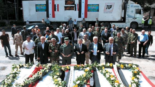 حلب تشيّع ثلة من شهداء منطقة الراشدين من أهالي كفريا والفوعة