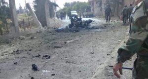 انفجار بحي الزهراء في حمص وإحباط تفجير انتحاري عند طريق مطار دمشق الدولي