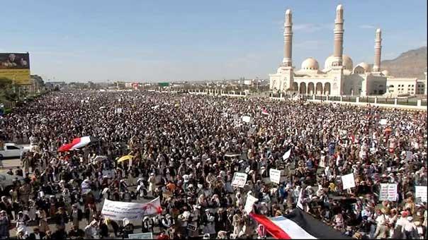 مسيرة حاشدة في اليمن