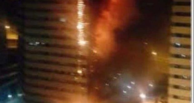 اطفاء نيران اندلعت في برج سكني غرب طهران