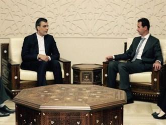 جابري أنصاري يلتقي الرئيس السوري في دمشق
