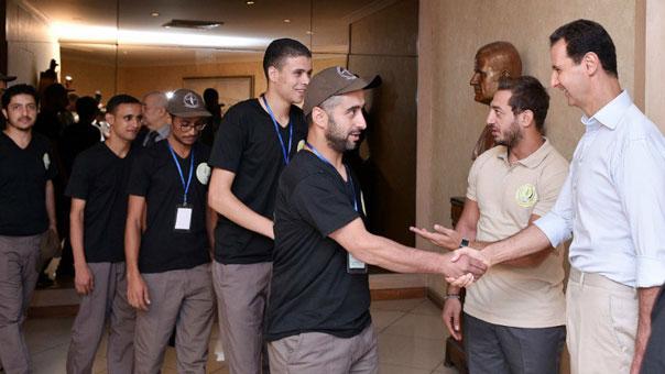 الأسد لمخيم الشباب العرب: سيستمر فشل اعداء الامة ما دامت شعلة المقاومة متّقدة في نفوس شبابنا العربي