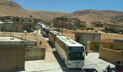 انتهاء عملية إخلاء مسلحي النصرة وعائلاتهم من جرود عرسال