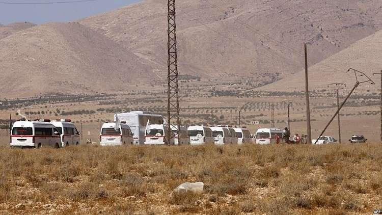 """قافلة """"داعش"""" التائهة تصل دير الزور"""