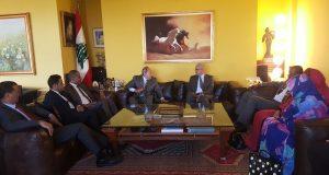 لحود استقبل وفدا برلمانيا موريتانيا وعرض معه المستجدات اقليميا