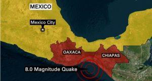 زلزال شدته ثماني درجات يضرب جنوب المكسيك