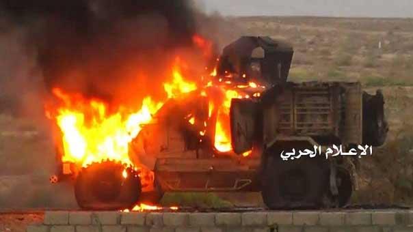الجيش اليمني يدمر آلية محملة بالعسكريين السعوديين في نجران