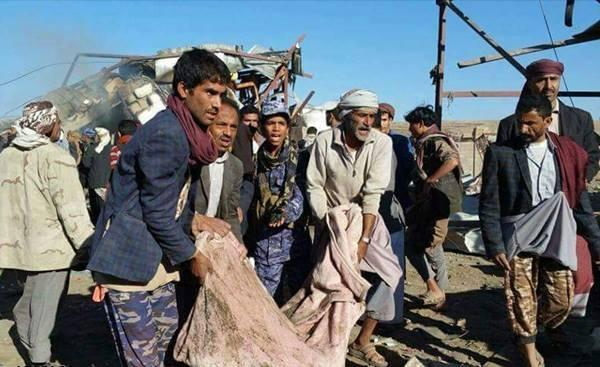 مجزرة سعودية جديدة في اليمن استهدفت سوق علاف بمديرية سحار