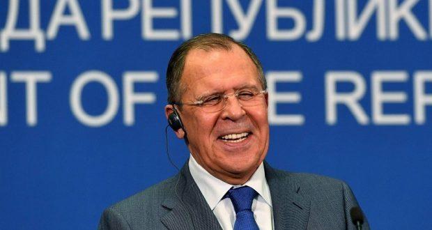 لافروف يمزح بشأن التدخل الروسي
