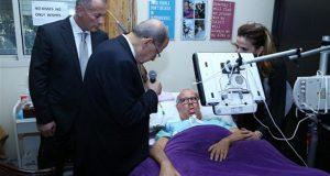 رئيس الجمهورية زار الدكتور جميل زغيب في منزله. الرئيس عون : إرادتكم أمثولة عن حب الحياة وقوة الروح