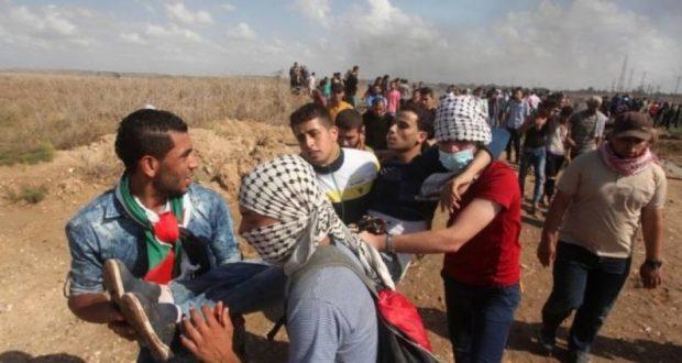 اصابات برصاص الاحتلال بغزة في جمعة الغضب